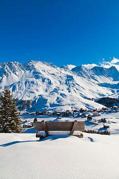 Arosa in Graubünden met verse sneeuw van Werner Dieterich