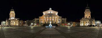 Gendarmenmarkt Berlin Panorama de nuit