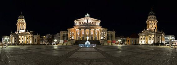 Gendarmenmarkt Berlijn Panorama bij nacht