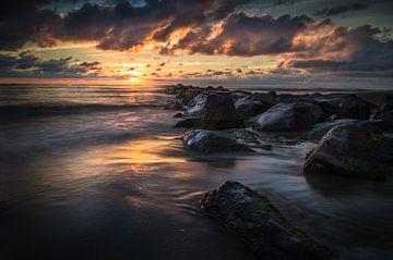 Zonsondergang strand cocksdorp sur Martijn van Steenbergen