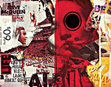 Steve Mc Queen vs. Marlene Dietrich Dadaismus Nonsens - Collage van Felix von Altersheim