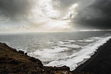 Wintersturm über Island von Holly Klein Oonk