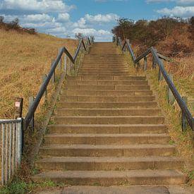 De trap naar de Slufter Texel van Jose Lok