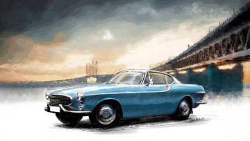 Volvo P1800 - Stahlblau von Martin Melis