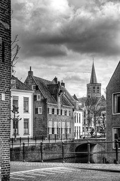 Historisch Amersfoort in zwartwit von Watze D. de Haan