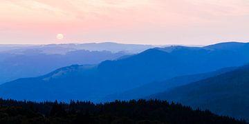 Vue du Schauinsland en Forêt Noire sur Werner Dieterich