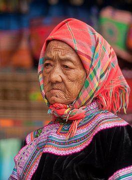 Vietnam: Can Cau Markt (Bắc Hà) van Maarten Verhees