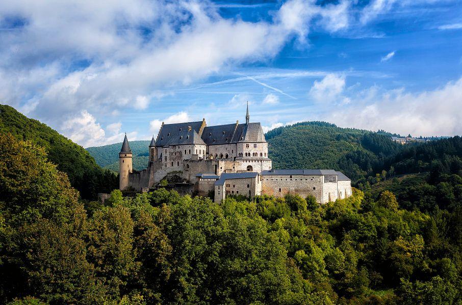 Kasteel in Vianden, Luxemburg