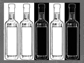 Glasflaschen von Leopold Brix
