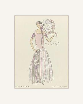The Roses | Ein Triptychon | Historischer Art Deco Mode Druck | Retro 20er Jahre Mode Werbung von NOONY