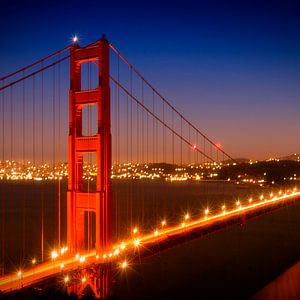 Evening Cityscape of Golden Gate Bridge