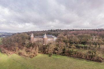 Vue aérienne de l'abbaye de Sint Benedictusberg à Mamelis