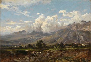 Landschaft Carlos de Haes-Bergbach, Antike Landschaft
