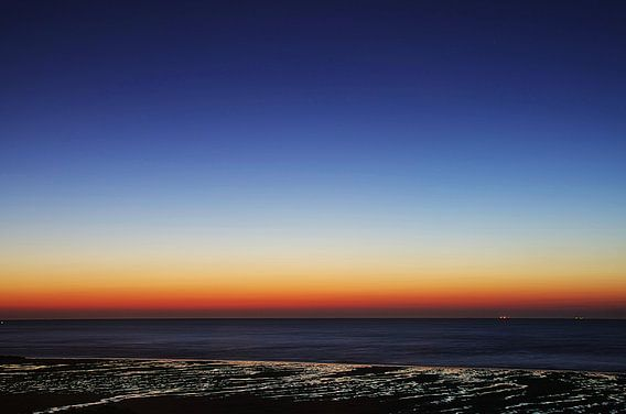 Blauwe uur Strand Houlgate Normandië III