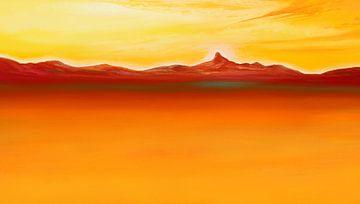 Oranges Meer von Silvian Sternhagel