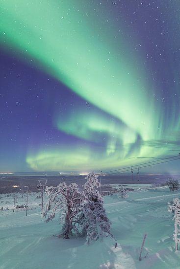 Aurora Borealis over Fins Lapland