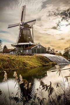 Beautiful mill in Deventer, Netherlands sur