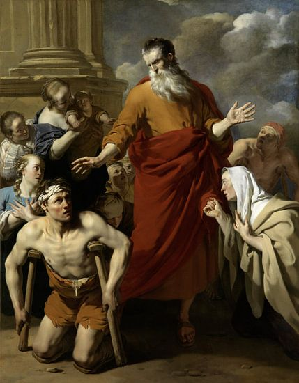 Paulus geneest de kreupele in Lystra, Karel Dujardin