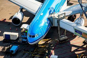 L'Airbus A330 de KLM à la porte