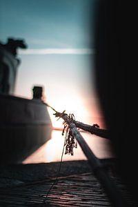 meerlijn met zonsopkomst van Nordkaia