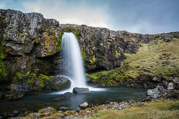 Kifkjufellsfoss, Snæfellsnes, IJsland sur