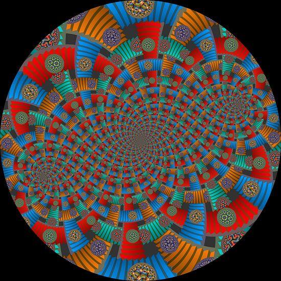 Tweelingen Spiraal van Trappen en Cirkels