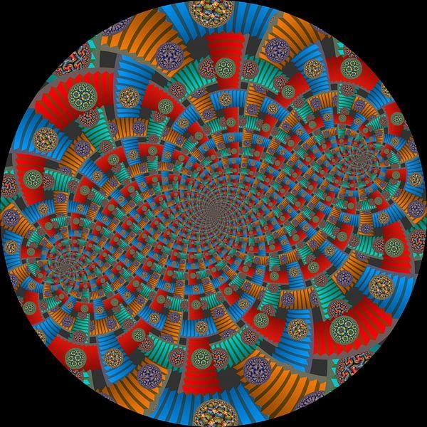 Tweelingen Spiraal van Trappen en Cirkels van Tis Veugen