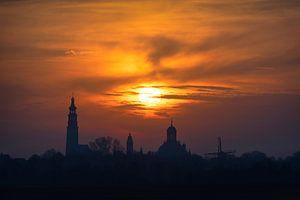 Walking on Fire (skyline Middelburg)