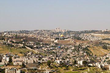 Zicht op het oude Jeruzalem