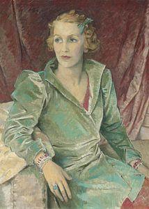 Das Porträt einer Dame von Antonije Lazovic