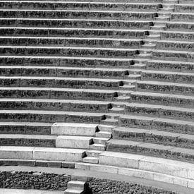 Trappen in Pompeii van