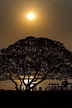 Sunset op Gili Trawangan van Willem Vernes