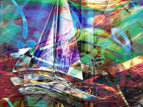 Stürmische Seefahrt von Heidrun Carola Herrmann