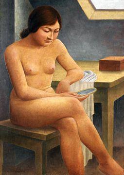 Mädchen mit Spiegel, GEORG SCHRIMPF, 1930 von Atelier Liesjes