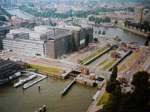 Rotterdam 1995 uitzicht vanaf Euromast