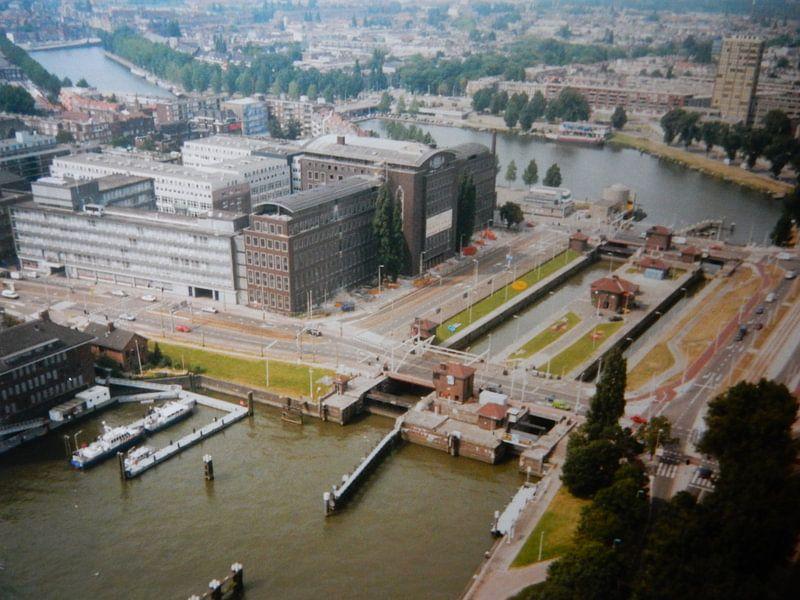 Rotterdam 1995 uitzicht vanaf Euromast van Joke te Grotenhuis