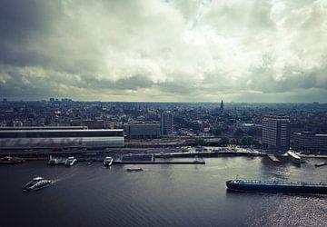 Amsterdam vanaf de Adam Toren van Ams Art