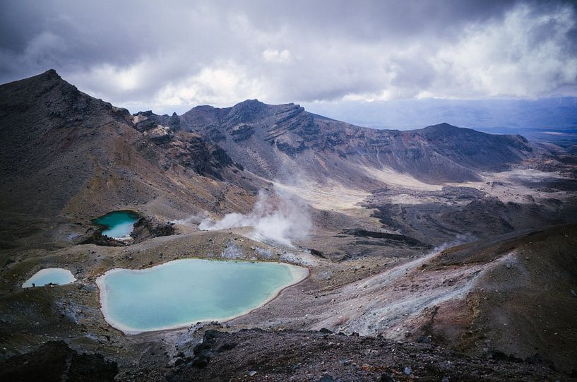 Emerald Lakes, Tongariro National Park sur Jasper van der Meij