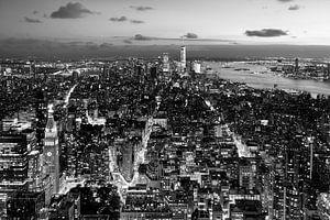 Uitzicht vanuit Rockefeller Center van Kurt Krause