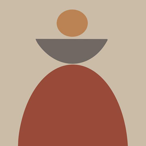 In balans van YOPIE illustraties