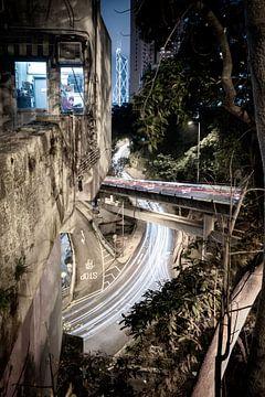 Hong Kong bij nacht van Govart (Govert van der Heijden)