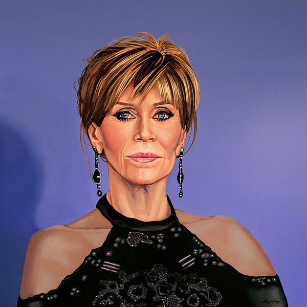 Jane Fonda Malerei von Paul Meijering