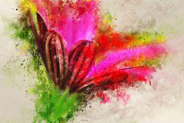 Fleur rose sur Sharon Harthoorn