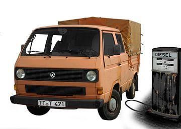 VW Type 2 T3 Doka-platform van aRi F. Huber