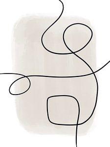 Moderne abstrakte Kunst - Linien 1