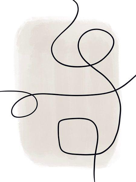 Moderne abstrakte Kunst - Linien 1 von Studio Malabar