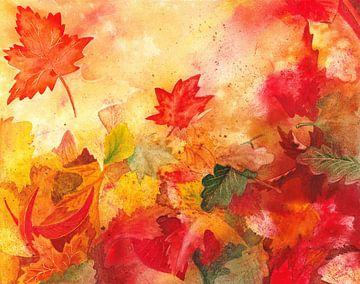 Autumn Leaves Falling van Irina Sztukowski