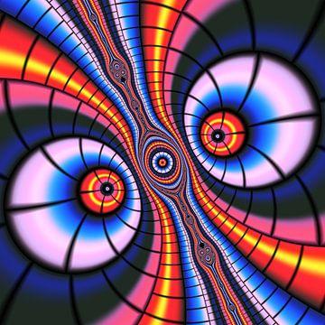 Verrückte Augen in Neon von Heidemarie Andrea Sattler