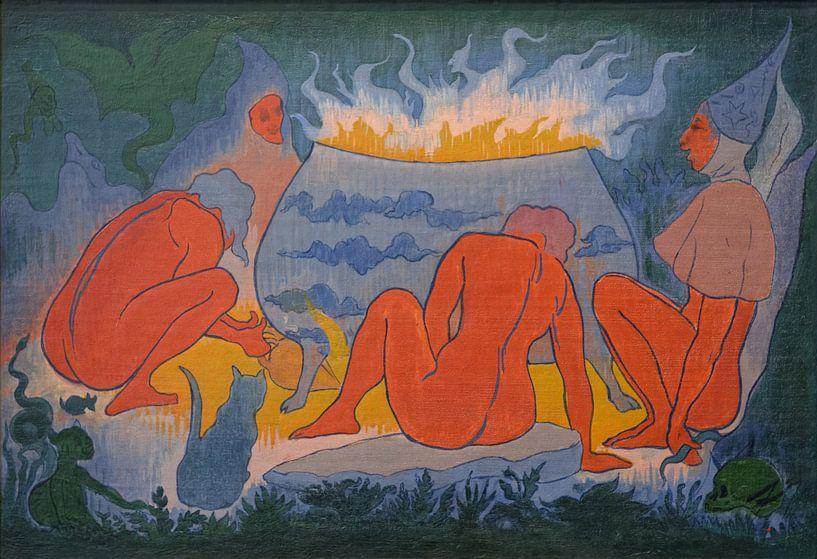 Die Hexen um das Feuer, Paul Ranson, 1891 von Atelier Liesjes
