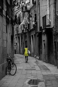 Barcelona: vrouw met hond